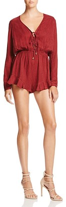 The Jetset Diaries Lace-Up Romper $169 thestylecure.com