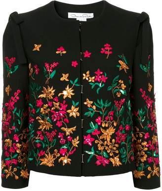 Oscar de la Renta flower embroidered jacket