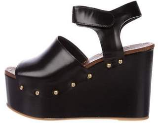Celine Leather Platform Wedges