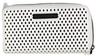 Armani Exchange A|X Round Ziparound Perforated Wallet