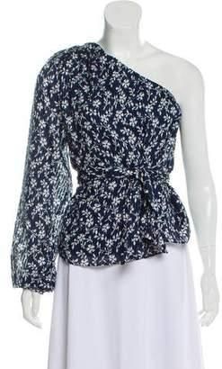 Ulla Johnson One-Shoulder Floral Top