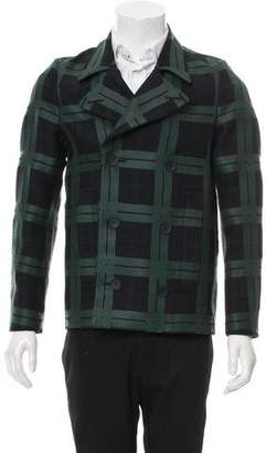 Valentino Double-Breasted Virgin Wool Peacoat w/ Tags