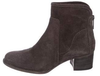 Aquatalia Suede Round-Toe Ankle Boots