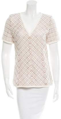 J. Mendel Lace V-Neck Top w/ Tags