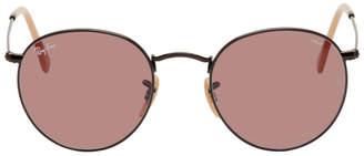Ray-Ban Black and Pink Round Phantos Sunglasses