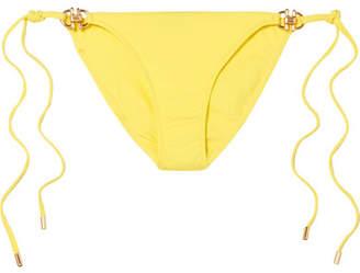 4431f6ea582569 Melissa Odabash Bahamas Embellished Bikini Bottom - Yellow