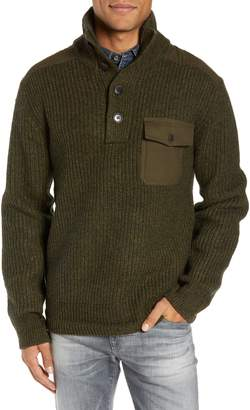 Schott NYC Wool Blend Military Sweater