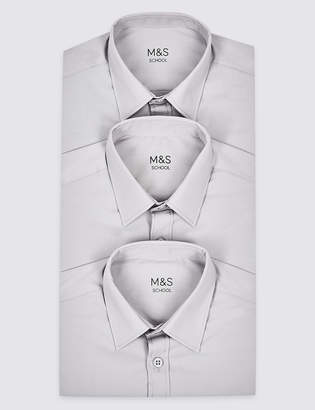 Image result for M&S grey 3 Pack Boys' Easy to Iron Shirts