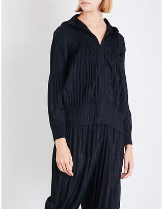 Pleats Please Issey Miyake Fluffy Basic pleated hoody