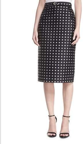 Ralph Lauren Collection Carlton Polka-Dot Pencil Skirt