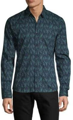 HUGO BOSS Printed Button-Down Shirt