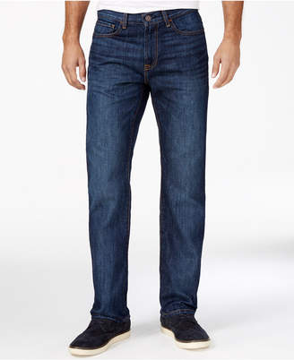 Tommy Hilfiger Men's Drake Relaxed-Fit Dark Blue Wash Jeans $59.50 thestylecure.com