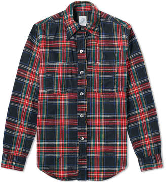 Post Overalls Flannel Check Shirt