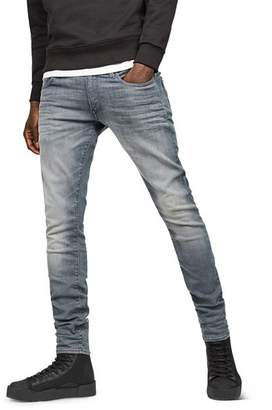 G Star 3301 Deconstructed Super Slim Fit Jeans in Wess Grey Dk Aged
