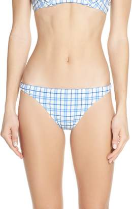 Tory Burch Plaid Hipster Bikini Bottoms
