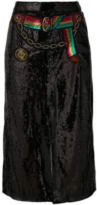 sequined split skirt