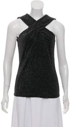 MICHAEL Michael Kors Metallic Crossover-Accented Blouse
