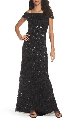 Women's Adrianna Papell Sequin Mesh Gown $299 thestylecure.com