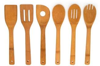 Home Basics 6 Piece Bamboo Kitchen Utensil Tool Set