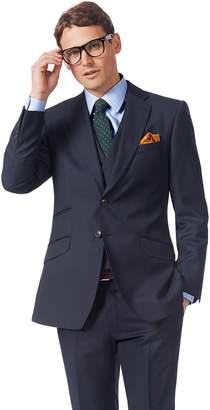 Charles Tyrwhitt Navy Slim Fit Italian Twill Luxury Suit Wool Jacket Size 36