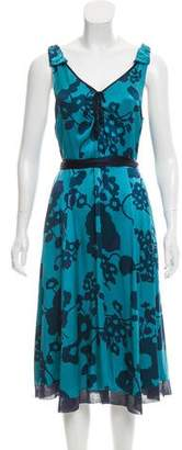 Marc Jacobs Silk Midi Dress