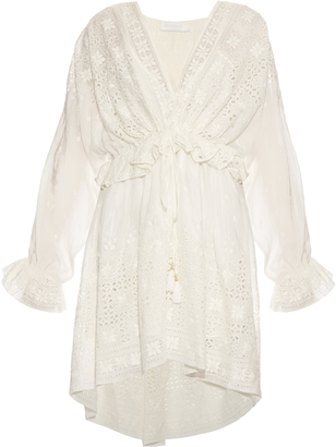 ZIMMERMANN Harlequin cotton and silk-blend dress $635 thestylecure.com