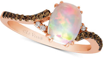 LeVian Le Vian Chocolatier Neopolitan Opal (5/8 ct. t.w.) & Diamond (1/6 ct. t.w.) in 14k Rose Gold