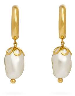 Simone Rocha Ornate Baroque Pearl Earrings - Womens - Pearl