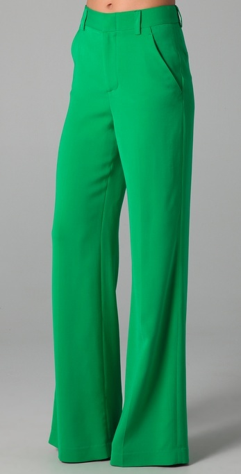 Alice + Olivia High Waist Wide Leg Pants