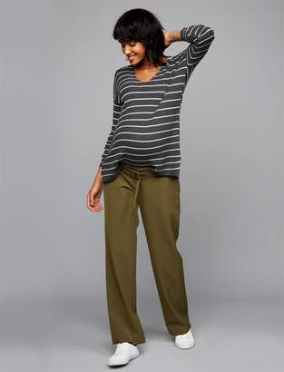 A Pea in the Pod Under Belly Crepe Wide Leg Maternity Pants