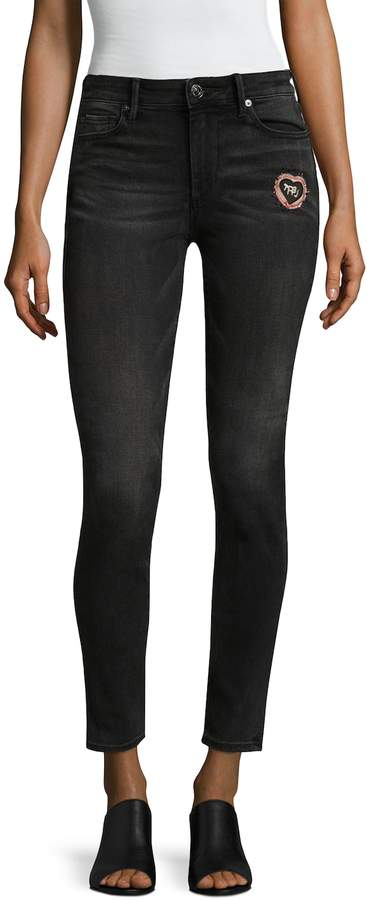 True Religion Women's Halle Super Skinny Patched Cotton Jeans