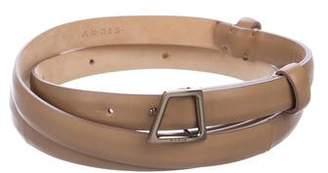 Akris Leather Wrap Belt