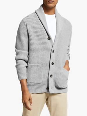 John Lewis & Partners Wool Cashmere Shawl Collar Cardigan