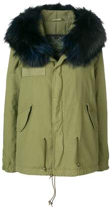 Mr & Mrs Italy hooded fur trim parka