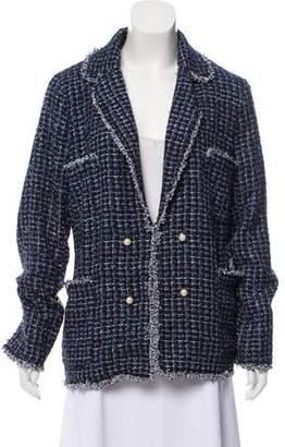 Edward Achour Double Breasted Tweed Blazer w/ Tags