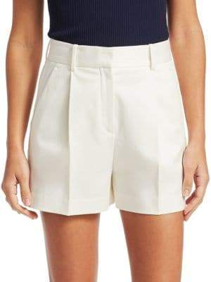 Theory Hudson Pleated Twill Shorts