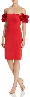 Aqua Off-the-Shoulder Ruffle Sleeve Dress - 100% Exclusive