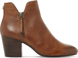 Steve Madden Ladies Tan Winner Leather Ankle Boots