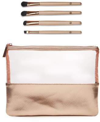 Luke Henderson 4-piece Eye Makeup Brush Set with Case