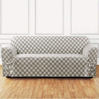 Sure Fit Buffalo Check Box Cushion Sofa Slipcover