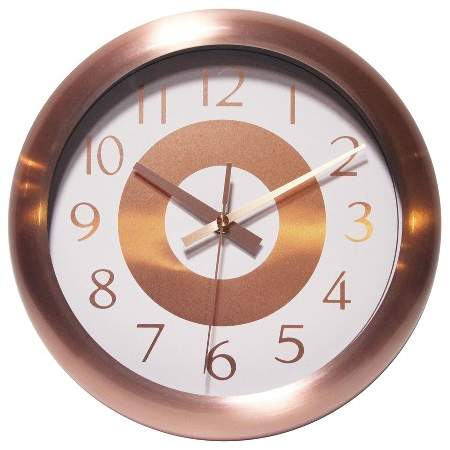 Copper Classic 10″ Wall Clock Copper
