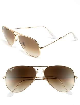 Ray-Ban 58mm Folding Aviator Sunglasses