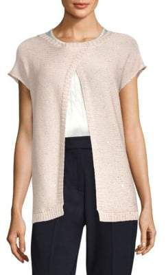 Peserico Short-Sleeve Cotton Cardigan