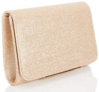Quiz Gold Shimmer Clutch Bag