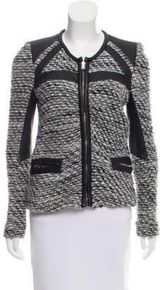 IRO Izzy Leather-Accented Jacket