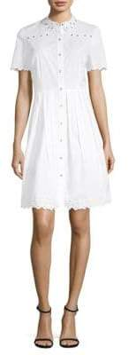 Elie Tahari Samiyah Fit-&-Flare Shirt Dress