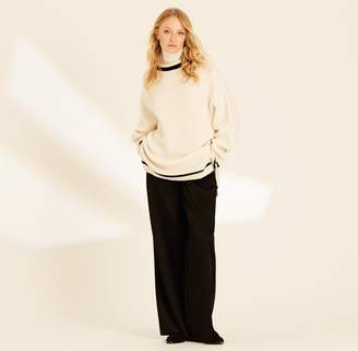Amanda Wakeley Ecru High Neck Oversized Knit