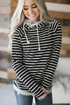 Ampersand Avenue DoubleHood Sweatshirt - Black Stripe