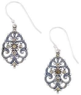 Lord & Taylor Sterling Silver Filigree Drop Earrings