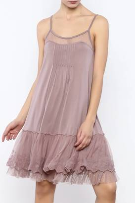 Ryu Mauve Slip Dress $57 thestylecure.com